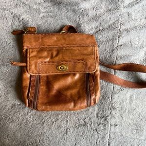 Authentic Fossil Brown Leather Purse